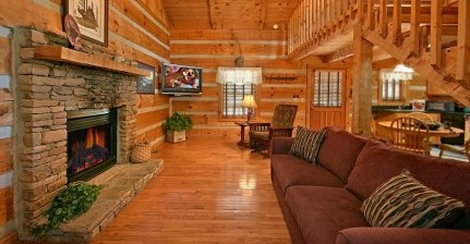 One Bedroom Cabins inside RV Pigeon Forge Campground
