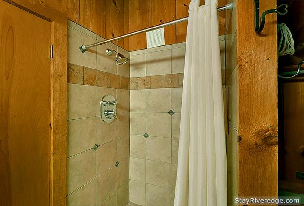 Shower next to bedroom